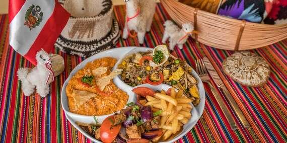 Peruánska misa pre 2 osoby - obsahuje až 3 rôzne jedlá a pochutia si aj vegetariáni v Casa Inka/Bratislava - Ružinov