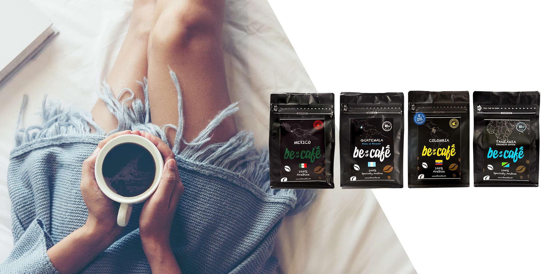 Balíky voňavých svetových káv v najvyššej kvalite