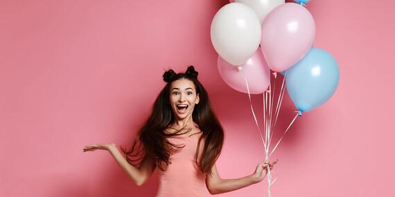 Hélium vrátane 30, 50 alebo 100 balónikov na párty/Slovensko