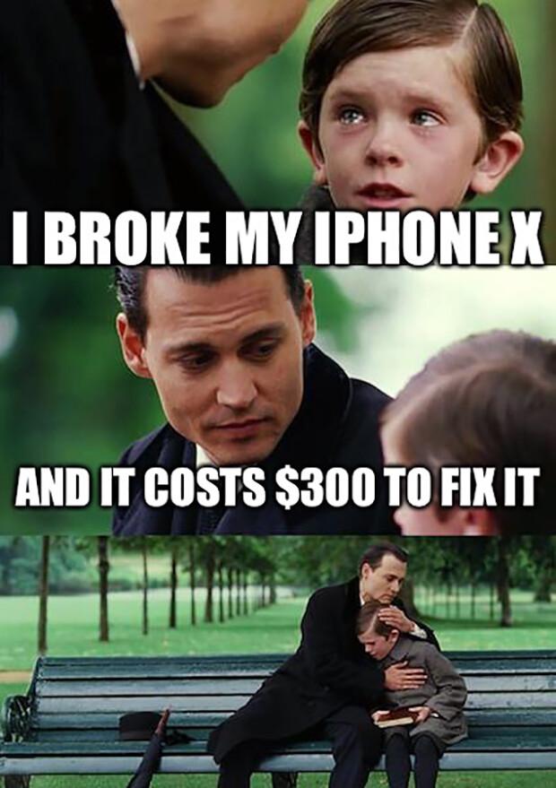 Rozbil som môj iPhone X. A oprava stála $ 300 :..(