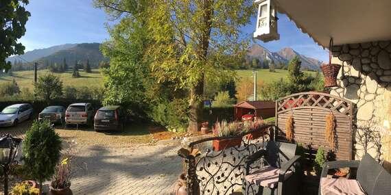 LAST MINUTE: Raj pre turistov - útulný penzión Šilon s nádherným výhľadom na Tatry / Belianske Tatry - Ždiar