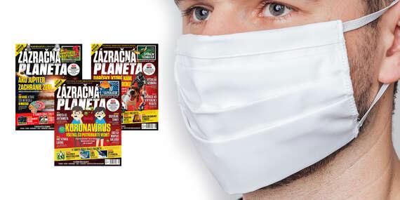 Ročné predplatné časopisu Zázračná planéta + kvalitné dvojvrstvové bavlnené rúško/Slovensko