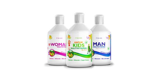 Prémiové výživové doplnky Swedish Nutra v podobe kĺbovej výživy, multivitamínov pre ženy, mužov aj deti/Slovensko