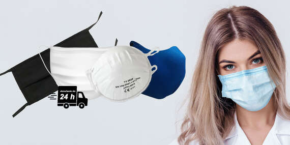 Certifikovaný respirátor FFP3 bez ventilu alebo ochranné rúško - s doručením do 24 hodín/Slovensko