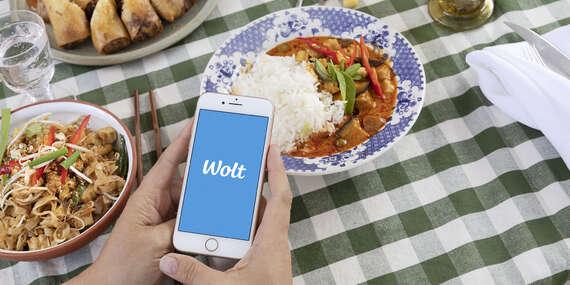 Donáška Jedla so zľavou 4 € na prvú objednávku cez aplikáciu Wolt / Bratislava