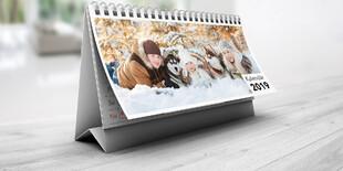 Stolový dvojtýždenný kalednár 297x140 mm, 28 fotografií