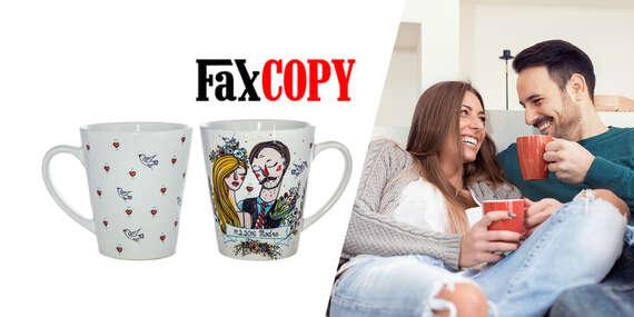 Originálne hrnčeky, ktoré potešia každé zamilované srdce s vlastným motívom, osobný odber ZADARMO až v 39 predajniach FaxCOPY/Slovensko