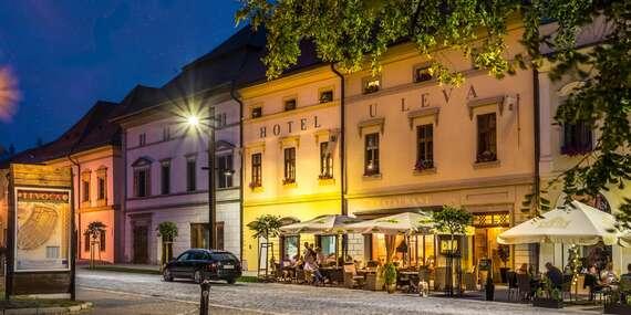 Relaxačný pobyt v historickej budove hotela U Leva*** s jedinečnou atmosférou, so vstupom do sauny a masážou / Levoča