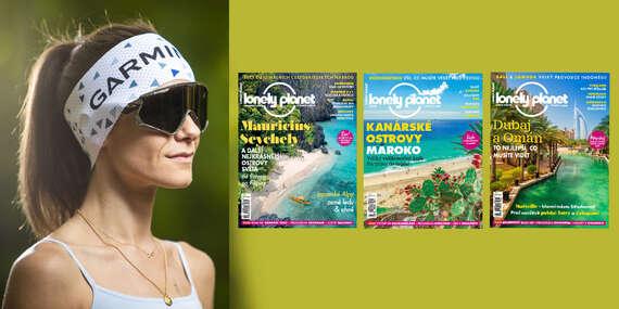 Magazín pre nadšencov cestovania - 6 vydaní časopisu Lonely Planet + funkčná čelenka Garmin / Slovensko