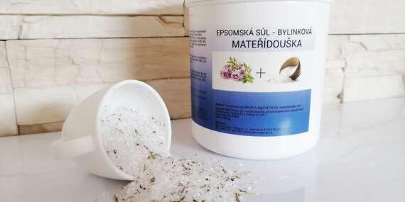 Epsomská sůl do koupele, na peeling či vlasové masky/ČR