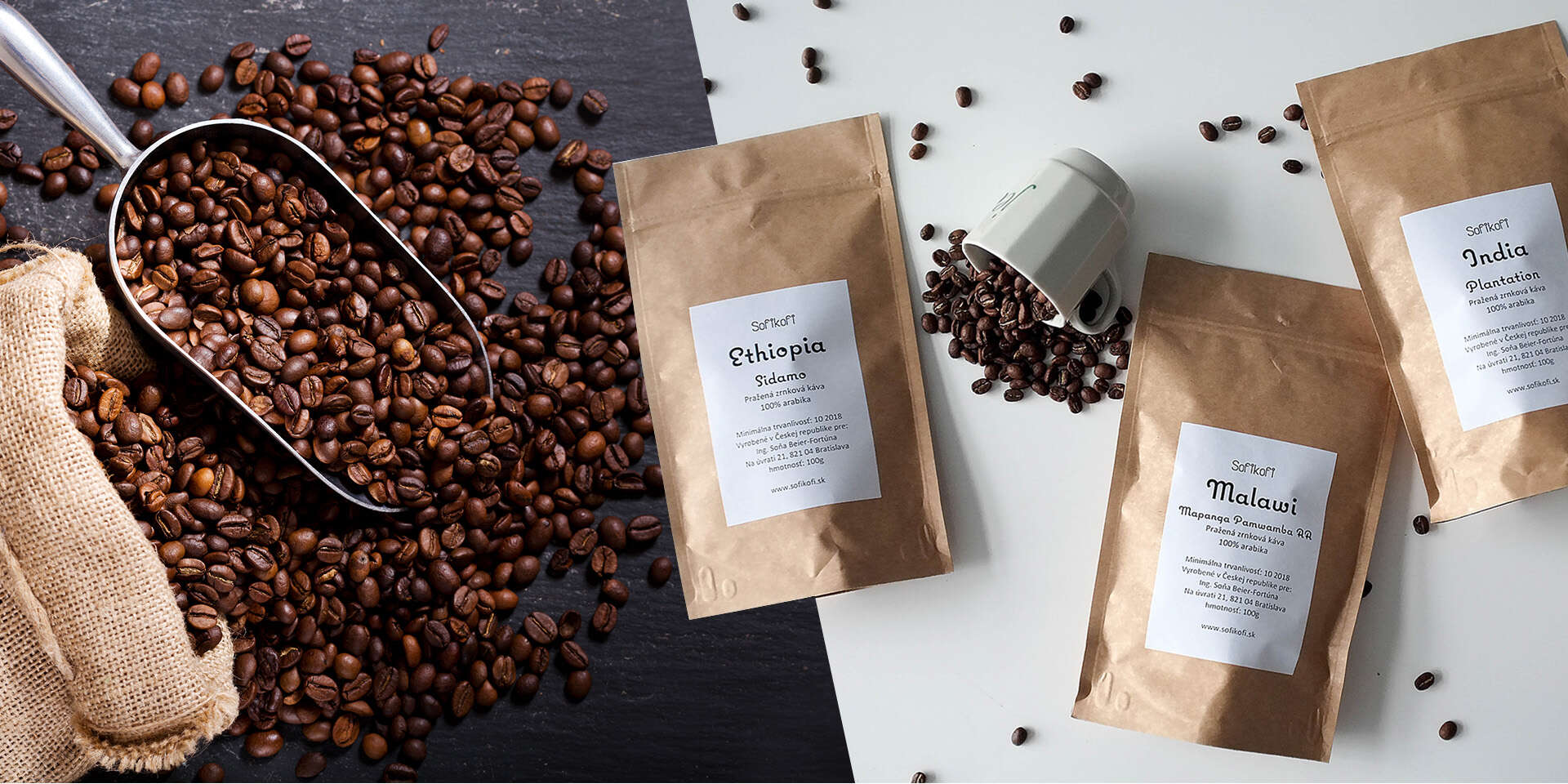 Degustačné balíčky plantážnej zrnkovej kávy z celého sveta od SofiKofi