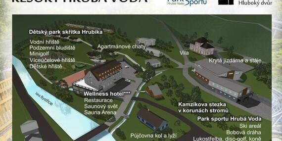 Neobmedzený relax a polpenzia vo wellness hoteli Hluboký dvůr*** hneď pri ski centre/Česko - Hrubá Voda - Olomoucko