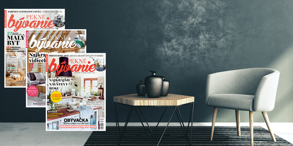 Čítajte a inšpirujte sa mesačníkom Pekné bývanie po celý rok/Slovensko