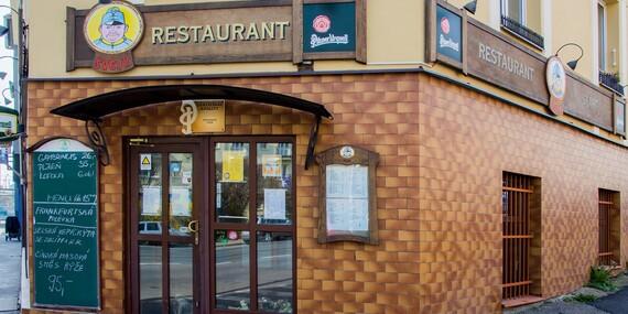 České menu s vývarem, kachnou a kávou ve Švejk restaurantu Strašnice/Praha 10 - Strašnice