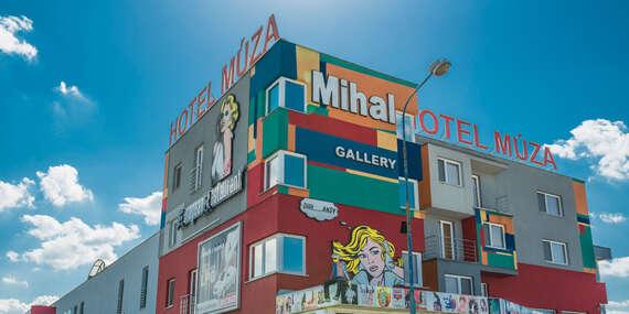 Pobyt v dizajnovom hoteli Múza s originálnymi dielami Andyho Warhola blízko centra mesta a letiska/Košice