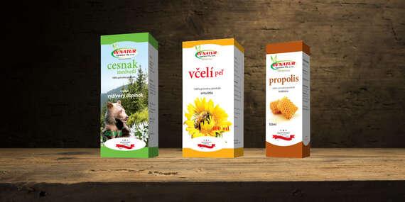 Domáce slovenské prírodné včelie produkty alebo výluh z medvedieho cesnaku/Slovensko