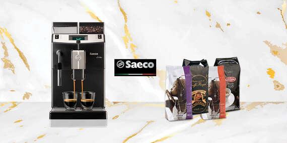 Profesionálny taliansky kávovar SAECO + veľký balíček zrnkovej kávy/Slovensko
