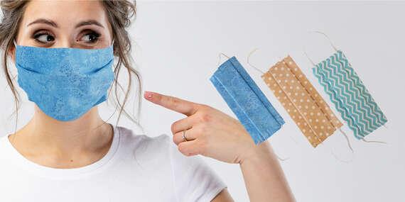 Textilné rúško s gumičkou – zabraňuje šíreniu vírusov/Zvolen