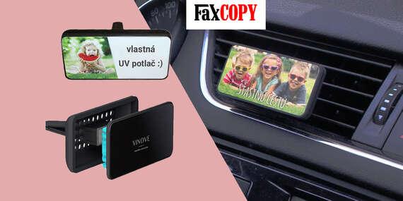 Vôňa prvého bozku, čerstvých kvetov alebo sebavedomého muža do auta s UV potlačou a osobným odberom ZADARMO až v 40 predajniach FaxCOPY/Slovensko