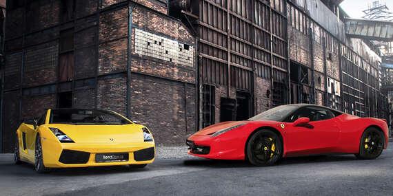 Šlápněte na to! Jízda v supersportu Ferrari 458 Italia nebo Lamborghini Gallardo - varianty s palivem i bez/Praha, Brno, Olomouc, Ostrava