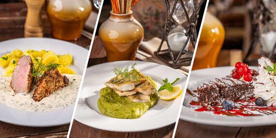 4-chodové degustačné alebo promočné menu v reštaurácii Modrá Hviezda, ktorá je opäť otvorená pre svojich návštevníkov/Bratislava - Staré Mesto