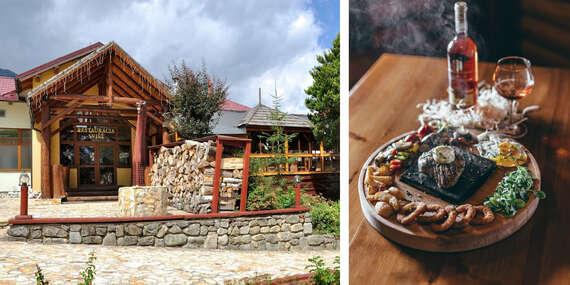 Lahodný hovädzí steak na lávovom kameni v reštaurácii Svišť v Novom Smokovci / Vysoké Tatry