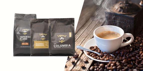 Balíky voňavých svetových káv v najvyššej kvalite/Slovensko
