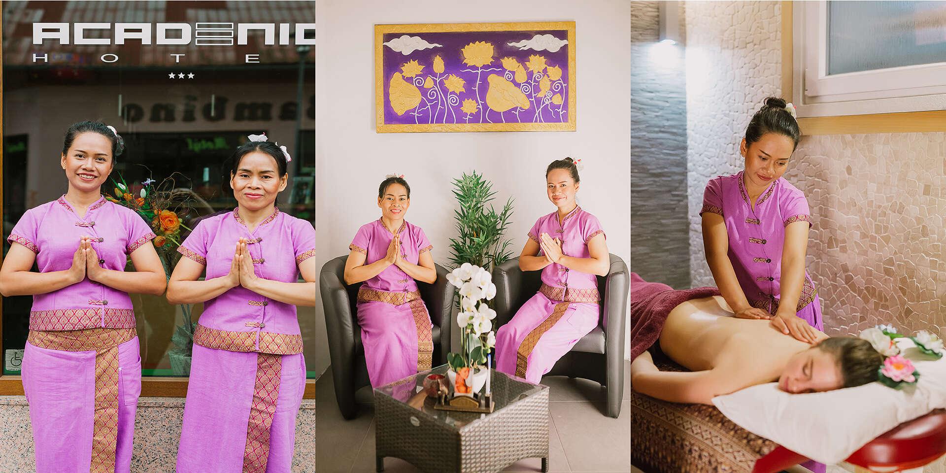 Thajská olejová aromatická masáž v Yen Sabai Thai Massage s mož...