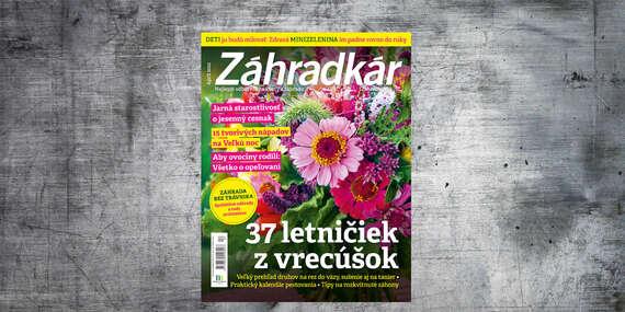 Ročné predplatné mesačníka ZÁHRADKÁR/Slovensko