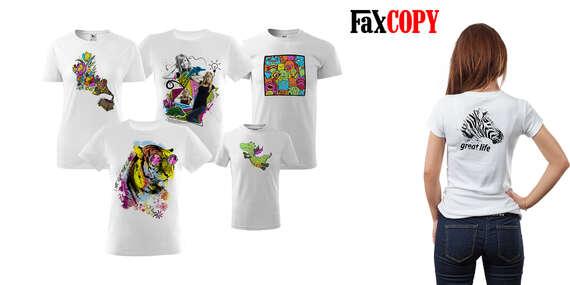 Originálne tričko s vlastnou potlačou alebo s omaľovánkou a osobným odberom ZADARMO až v 39 predajniach FaxCOPY/Slovensko