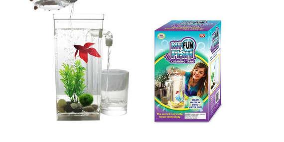 Samočistiace akvárium My Fun Fish - prvý krôčik k zodpovednosti pre deti a žiadna práca pre rodičov/Slovensko