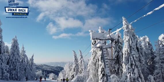 Celodenný skipas, bobová dráha alebo požičanie výstroja v Snowparadise Veľká Rača Oščadnica/Veľká Rača - Oščadnica