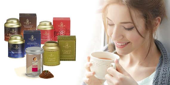 Čaje talianskej značky La Via Del Té alebo balíček káv Musseti/Slovensko