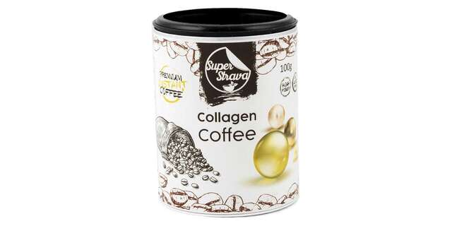 Káva s reishi a kolagénom na podporu imunity.