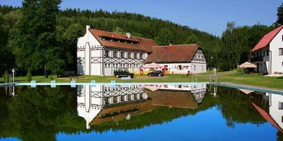 Plná penze v pohodlných chatičkách se sportovním vyžitím pro celou rodinu v oblasti krásného Křivoklátska/Křivoklátsko - Chřič