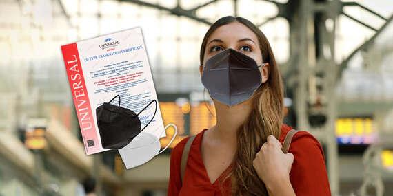 Čierne respirátory KN95/FFP2 a biele respirátory FFP2 s certifikátom/Slovensko