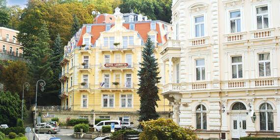Spa hotel Lauretta*** s procedúrami a plnou penziou len 3 min. od kolonád v Karlových Varoch/Karlove Vary - Česko