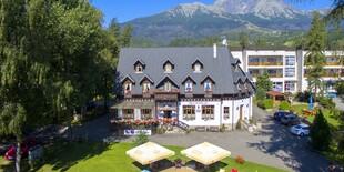 Dovolenka v centre Tatranskej Lomnice s wellness v penzióne Encián