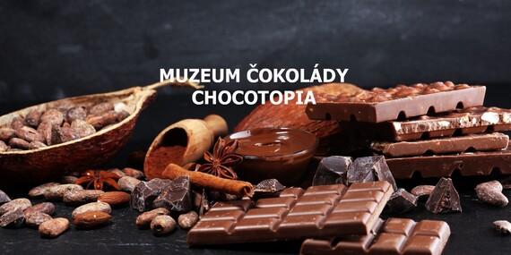 Vstup do muzea čokolády Chocotopia v centru Prahy s ochutnávkou / Praha