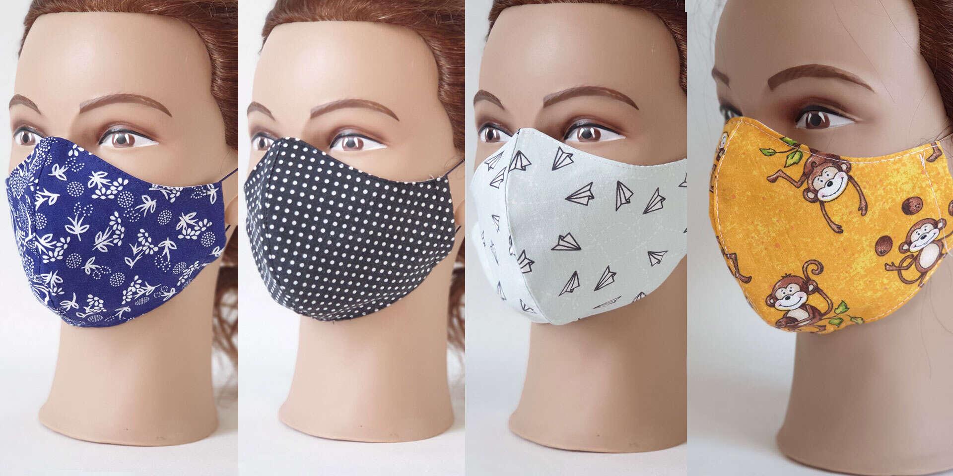 Kvalitné tvarované rúška pre malých i veľkých, ktoré príjemne sedia na tvári