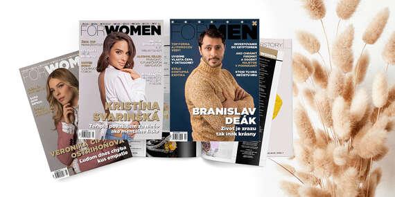Ročné predplatné online časopisu ForWomen alebo ForMen/Slovensko