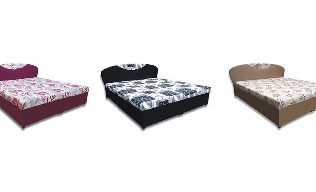 Čalúnená výklopná posteľ GERDA s matracom a úložným priestorom