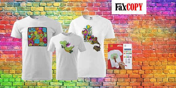 Originálne tričko s omaľovánkou alebo s vlastnou potlačou a osobným odberom ZADARMO až v 40 predajniach FaxCOPY/Slovensko