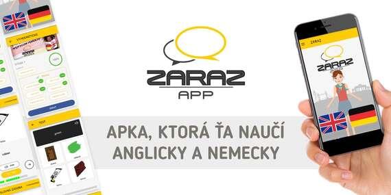 Zľava 70 % na online výučbu angličtiny alebo nemčiny cez aplikáciu ZARAZ/Slovensko