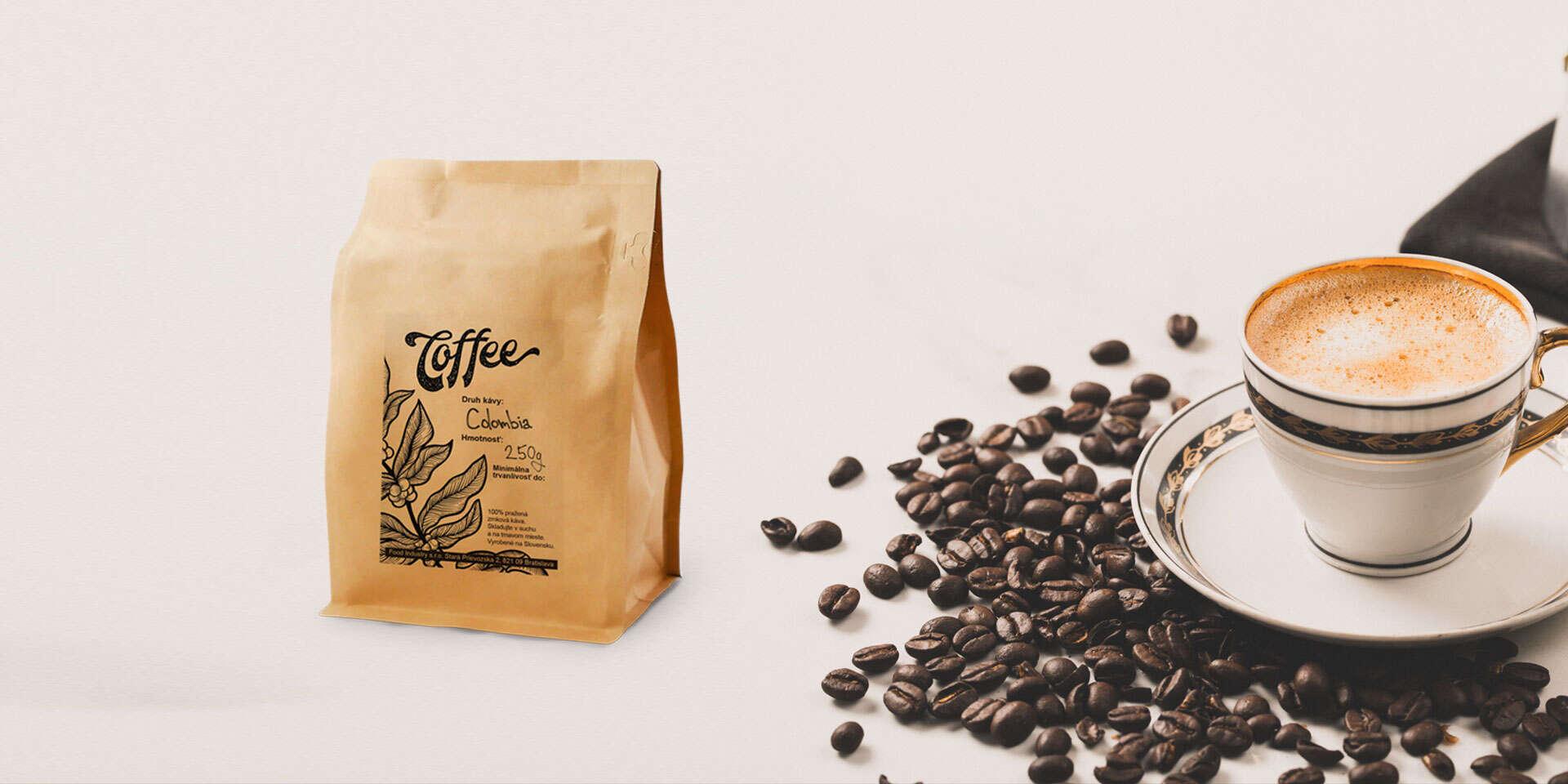 Balíček čerstvo praženej kávy priamo k vám domov alebo s osobn