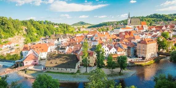 Rozprávkový Český Krumlov zo zoznamu UNESCO s pobytom vo vynovenom penzióne Golden Crown/Český Krumlov - Česko