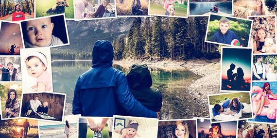 Koláž na plátne z vlastných fotografií - veľa rozmerov na výber/Slovensko