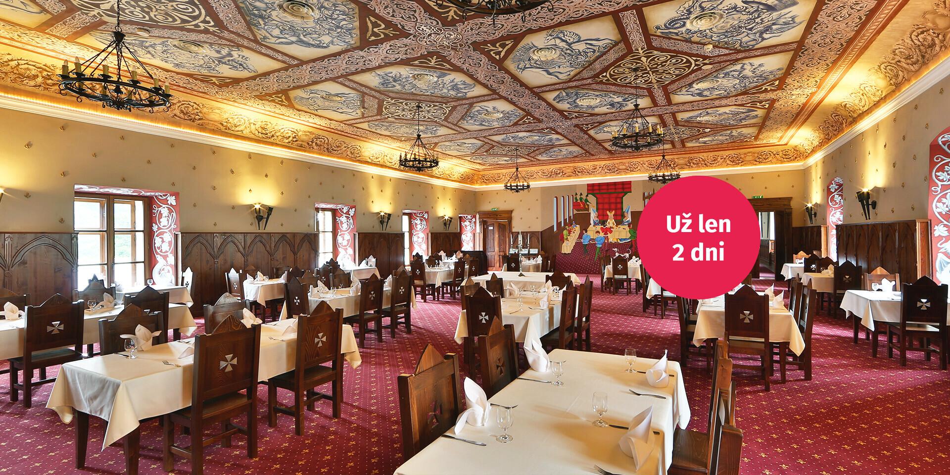 Kráľovský deň - wellness, masáž, prehliadka zámku a výborná večera na zámku The Grand Vígľaš ****