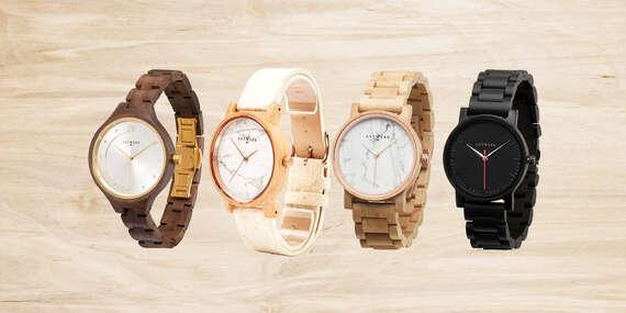 Unikátne drevené hodinky z ebenu, ananásových listov, javoru alebo vlašského orecha/Slovensko