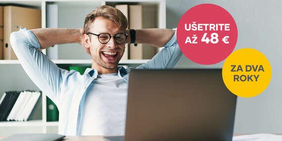 Zľava 2 € mesačne z ceny UPC Digitálnej TV alebo UPC Internetu na celé 2 roky/Slovensko